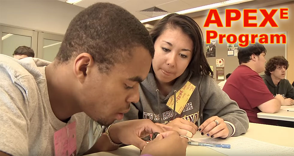 Students participating in the APEX program.